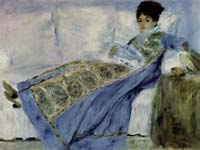 Renoir's Madame Monet reading Le Figaro, on permanent display at the Gulbenkian.