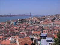 The view of Lisbon's rooftops from the Castle (© Lalupa, CC-BY-ASA-3.0).