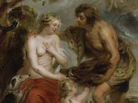 A Peter Paul Rubens portrait of Meleager and Atalanta at the Walker Art Gallery.