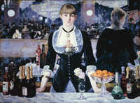 A Manet on display at the Courtauld Gallery.