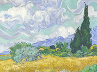 Van Gogh's Wheat Field with Cypresses is one of 7 van Gogh's on display at the National Gallery