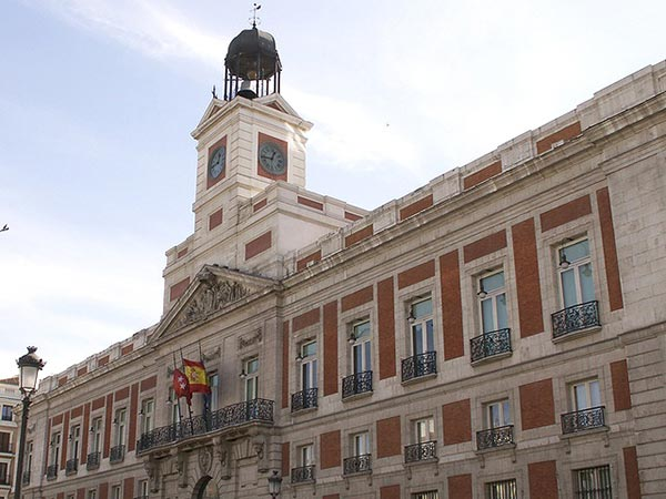 The Real Casa de Correos on Puerta del Sol