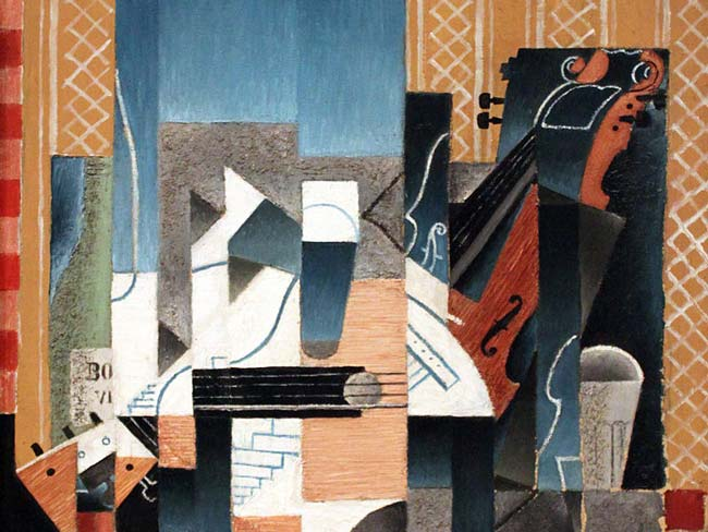 Gris' Violin and Guitar, on display at the Reina Sofia