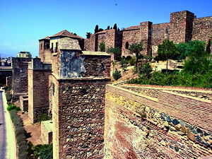 An alcazaba is a Moorish fortification in Spain and Portugal. The alcazaba in Malaga was built by the Hammudid dynasty in the early 11th century. (© Bashevis6920, CC BY-SA 2.0)