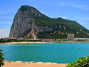 A panoramic view of Gibraltar (© Bengt Nyman, CC BY 2.0)