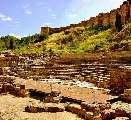 A view of the Roman Theatre in Malaga, Spain (© andynash, CC BY-SA 2.0)