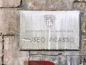 The plaque at the Museu Picasso in Malaga, Spain (© Twyxx, CC BY 2.0)