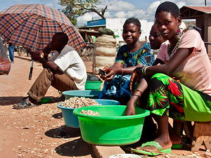 Women in Salima District, Malawi, selling groundnuts (© Swathi Sridharan, CC BY-SA 2.0)