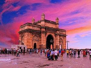 The Gateway of India during a beautiful sunset in Mumbai