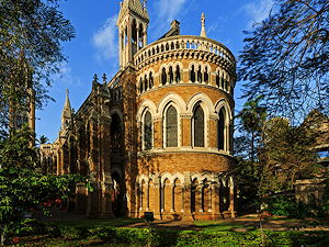 Historical building of the University in Mumbai, India
