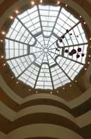 The skylight in the unique Guggenheim Museum building
