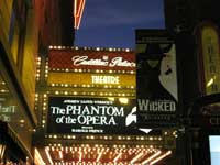 One of Broadway's 40 large theatres.  Click to enlarge.