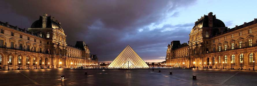 The Louvre's famous pyramid (© Martin Falbisoner, CC-BY-ASA-3.0)
