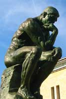 The Thinker, found at the peaceful Rodin Museum
