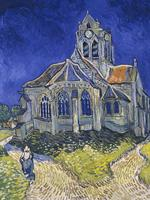 van Gogh's Church in Auvers Sur Oise, on display at the Musee D'Orsay, Paris.