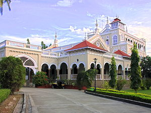 A photo of the Aga Khan Palace in Pune, India