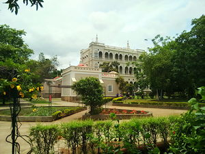 Aga Khan Palace as viewed from the left rear side