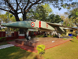 A MiG-23BN aircraft at the National War Memorial in Pune, India