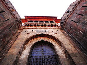 The front gate of Shaniwar Wada