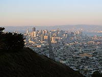The view of San Francisco from Twin Peaks