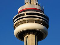 The CN Tower's observation deck (© Wladyslaw, distributed under a CCA3.0 Unported licence).