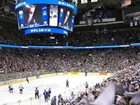 The Rogers Arena, Vancouver, hosts a variety of sporting events