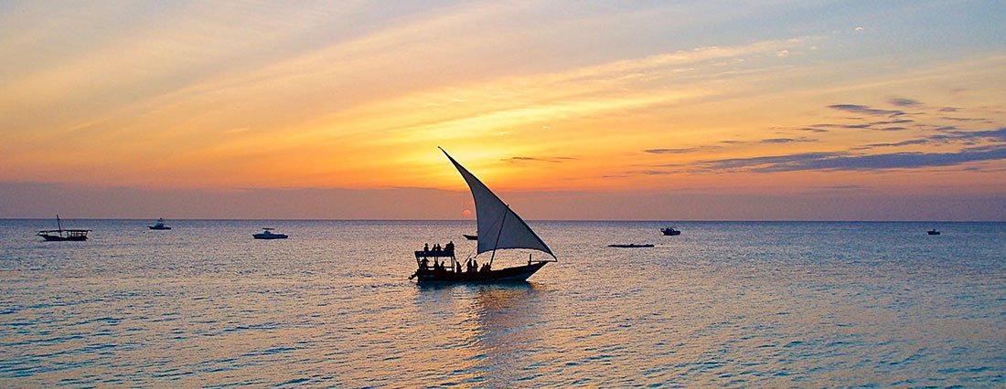 A sunset cruise on a Dhow off the coast of Zanzibar