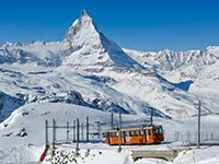 Gornergrat mountain railway in winter (© Kabelleger, CC-BY-ASA-3.0)