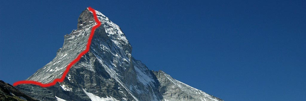 The Hornli Ridge is the most popular route up the Matterhorn